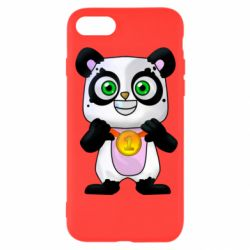 Чохол для iPhone 7 Panda with a medal on his chest