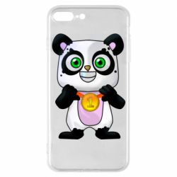 Чехол для iPhone 7 Plus Panda with a medal on his chest