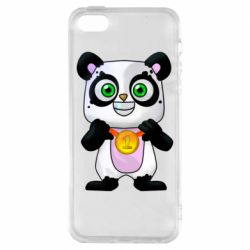 Чехол для iPhone5/5S/SE Panda with a medal on his chest
