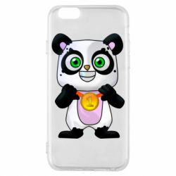 Чехол для iPhone 6/6S Panda with a medal on his chest