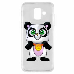 Чохол для Samsung A6 2018 Panda with a medal on his chest