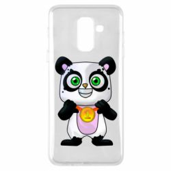 Чохол для Samsung A6+ 2018 Panda with a medal on his chest