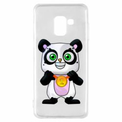 Чохол для Samsung A8 2018 Panda with a medal on his chest