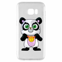 Чехол для Samsung S7 EDGE Panda with a medal on his chest