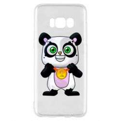 Чехол для Samsung S8 Panda with a medal on his chest
