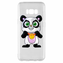 Чехол для Samsung S8+ Panda with a medal on his chest