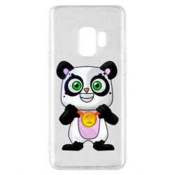 Чехол для Samsung S9 Panda with a medal on his chest