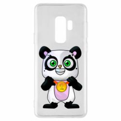 Чехол для Samsung S9+ Panda with a medal on his chest