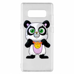 Чехол для Samsung Note 8 Panda with a medal on his chest