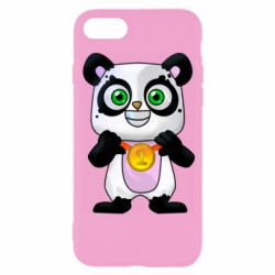 Чехол для iPhone 8 Panda with a medal on his chest