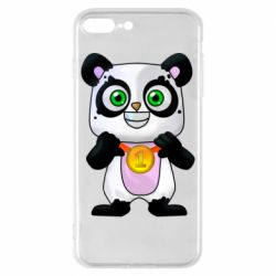 Чохол для iPhone 8 Plus Panda with a medal on his chest