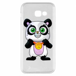 Чехол для Samsung A5 2017 Panda with a medal on his chest