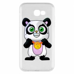 Чехол для Samsung A7 2017 Panda with a medal on his chest