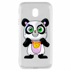 Чехол для Samsung J3 2017 Panda with a medal on his chest