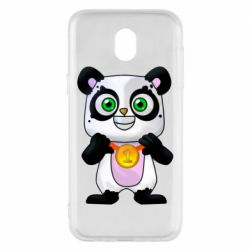 Чехол для Samsung J5 2017 Panda with a medal on his chest
