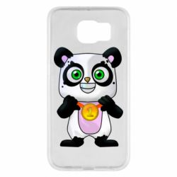 Чехол для Samsung S6 Panda with a medal on his chest
