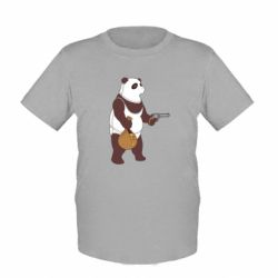 Дитяча футболка Panda with weapons