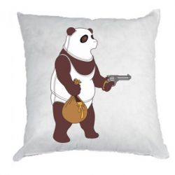 Подушка Panda with weapons