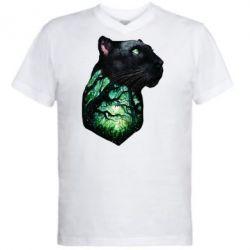 Купить Мужская футболка с V-образным вырезом Panther and Forest, FatLine