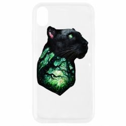 Чохол для iPhone XR Panther and Forest