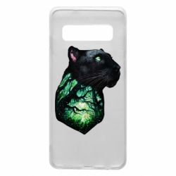 Чохол для Samsung S10 Panther and Forest