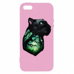 Чохол для iphone 5/5S/SE Panther and Forest
