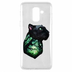 Купить Пантера, Чехол для Samsung A6+ 2018 Panther and Forest, FatLine