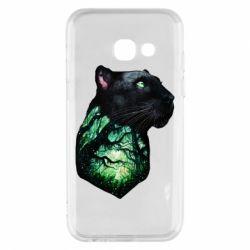 Купить Пантера, Чехол для Samsung A3 2017 Panther and Forest, FatLine
