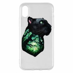 Чохол для iPhone X/Xs Panther and Forest
