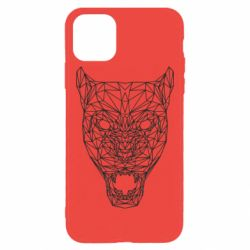 Чохол для iPhone 11 Pro Max Panther growls low poly