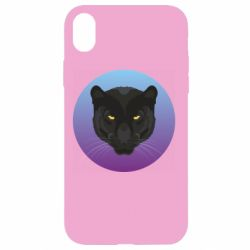 Чохол для iPhone XR Panther on gradient background