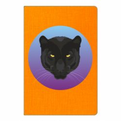 Блокнот А5 Panther on gradient background