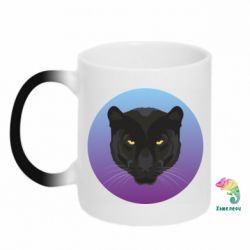 Кружка-хамелеон Panther on gradient background