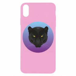 Чохол для iPhone X/Xs Panther on gradient background