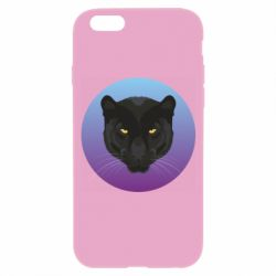 Чохол для iPhone 6/6S Panther on gradient background