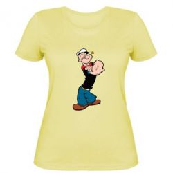 Женская футболка Папай моряк - FatLine