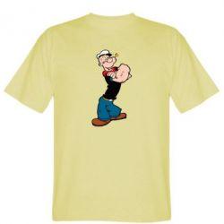 Мужская футболка Папай моряк - FatLine