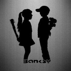 Наклейка Пара Bancsy - FatLine