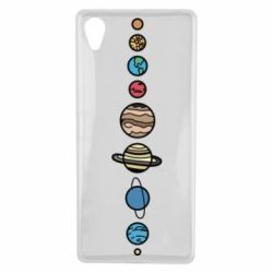 Чохол для Sony Xperia X Parade of planets - FatLine