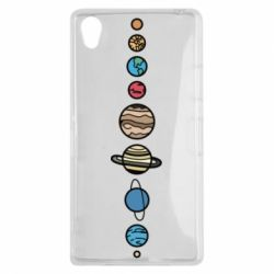 Чохол для Sony Xperia Z1 Parade of planets - FatLine