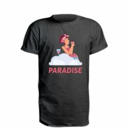 Удлиненная футболка Paradise apple and wine
