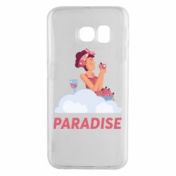 Чехол для Samsung S6 EDGE Paradise apple and wine