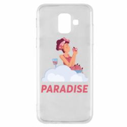 Чехол для Samsung A6 2018 Paradise apple and wine