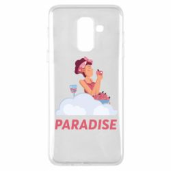 Чехол для Samsung A6+ 2018 Paradise apple and wine