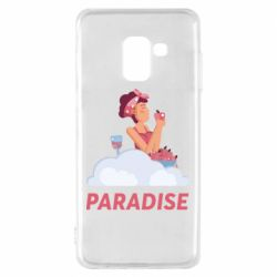 Чехол для Samsung A8 2018 Paradise apple and wine