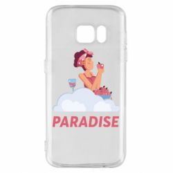 Чехол для Samsung S7 Paradise apple and wine