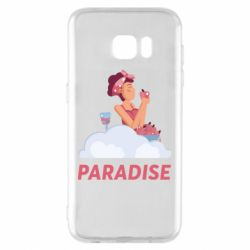 Чехол для Samsung S7 EDGE Paradise apple and wine