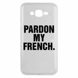 Чехол для Samsung J7 2015 Pardon my french.