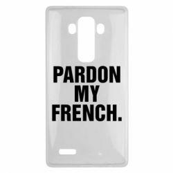 Чехол для LG G4 Pardon my french. - FatLine