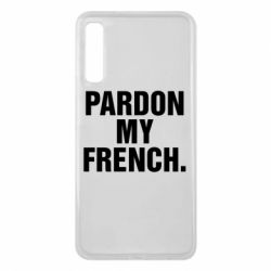 Чехол для Samsung A7 2018 Pardon my french.